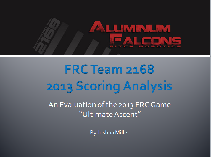 2013 Scoring Analysis Presentation